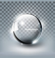 modern shiny transparent glass sphere and glitter vector image vector image