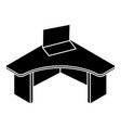 office table icon simple style vector image vector image