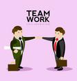 pair of businessmen doing a handshake teamwork vector image