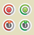 Power on of button bar vector image vector image