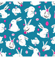 seamless bright pattern easter bunnies vector image