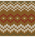 Seamless knitted geometric pattern vector image
