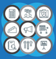 set of 9 project management icons includes board vector image vector image