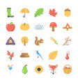 set of flat autumn icon vector image vector image