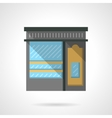 Shoe shop facade flat color design icon vector image vector image