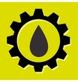 signal of oil isolated icon design vector image
