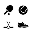 sport equipment simple related icons vector image