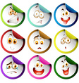Stickers with facial expression vector image vector image