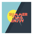 Summer time enjoy vector image