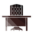 table and armchair icon vector image vector image