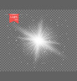 the white clear light sun vector image vector image