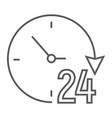 twenty four hour thin line icon e commerce vector image vector image