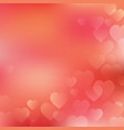 valentines day background card with hearts on vector image
