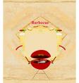 Vintage Barbecue Party Invitation vector image vector image