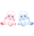 baby sheep vector image