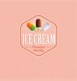 ice cream logo or label vector image