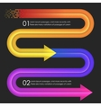 Infographics design template Arrows vector image