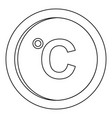 cesium icon outline style vector image