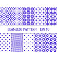 10 seamless pattern for textile wallpaper vector image vector image