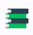 1234 steps timeline business infographics vector image vector image