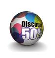 3d sphere vector image vector image
