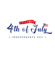 4th july usa vintage lettering greeting card vector image vector image