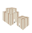 A Stack of Shipping Box with Steel Strapping vector image vector image