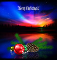 abstract greeting with christmas tree and stars vector image vector image
