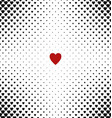 Abstract heart pattern background design vector image vector image