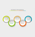abstract infographic template with a five steps vector image