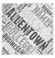allentown business school Word Cloud Concept vector image vector image