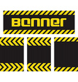banner with horizontal yellow and black lines on vector image vector image