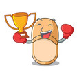 boxing winner casual home slippers on mascot style vector image