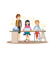 business character business woman with colleagues vector image vector image