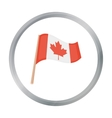 Canadian flag icon in cartoon style isolated on vector image vector image