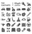 car parts glyph icon set automobile details