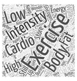 Cardio Exercise Word Cloud Concept vector image vector image