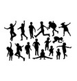 children and baby activity silhouettes vector image