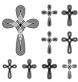 christian cross ornamental knot symbol vector image vector image