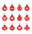 Christmas ball christmas bauble red icons