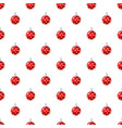 christmas red ball pattern vector image vector image