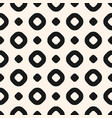 circles black and white seamless pattern vector image