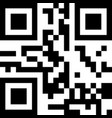 classic qr code sample for smartphone scanning vector image