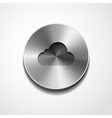 cloud icon on the button vector image vector image