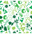 color biology icons seamless pattern eps10 vector image vector image