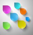 Colorful Paper Rain - Water Drops vector image