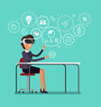 concept virtual reality vector image