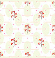 cranberry seamless pattern vector image vector image