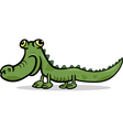 crocodile animal cartoon vector image vector image
