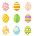 easter eggs set icons design elements vector image vector image